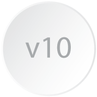 Logicity is a Crystal Reports viewer 10 and is represented by a branding-styled circle with the numbers v10