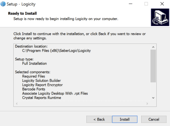 Logicity User Guide - installation - Step 8